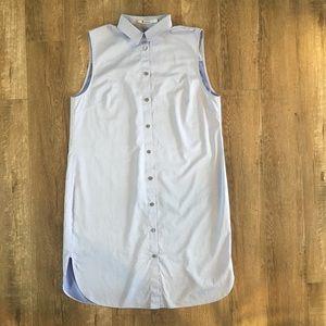T Alexander Wang Blue Button-up Dress